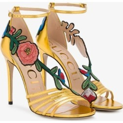 82dda216ca42 Gucci Gold Ophelia 110 leather sandals found on MODAPINS from Browns  Fashion for USD  698.45