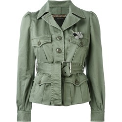 Marc Jacobs - sateen belted jacket - women - Cotton - 4, Green