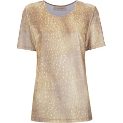 Adriana Degreas printed velvet top - Neutrals found on MODAPINS from FarFetch.com - US for USD $236.00