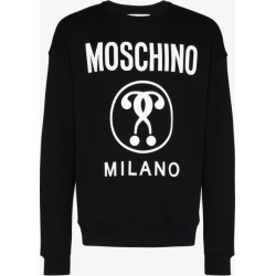 Moschino Mens Black Double Question Mark Logo Sweatshirt found on Bargain Bro UK from Browns Fashion