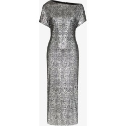 Christopher Kane Womens Silver Sequin Snake Print Dress found on MODAPINS from Browns Fashion for USD $1428.46