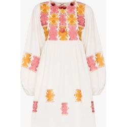 Figue Womens White Lucie Embroidered Cotton Mini Dress found on MODAPINS from Browns Fashion for USD $574.78