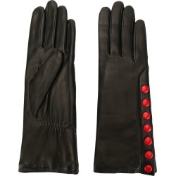 Agnelle gloves with contrast poppers - Black found on MODAPINS from FarFetch.com - US for USD $105.00