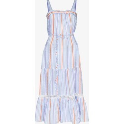 Lemlem Womens Blue Bahiri Sweepy Striped Dress found on MODAPINS from Browns Fashion for USD $433.98