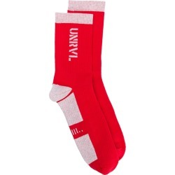 Unravel Project panelled socks - Red found on Bargain Bro UK from FarFetch.com- UK