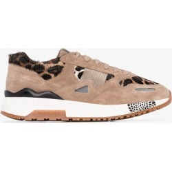 Versace Brown Achilles leopard print sneakers found on Bargain Bro UK from Browns Fashion