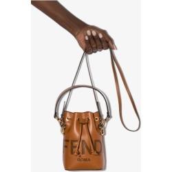 Fendi Womens Brown Mon Tresor Mini Leather Bucket Bag found on Bargain Bro UK from Browns Fashion