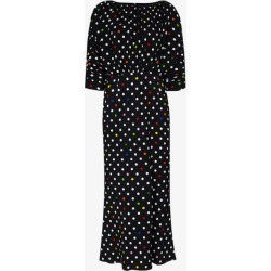 Christopher Kane Womens Black Coin Dot Gathered Midi Dress found on MODAPINS from Browns Fashion for USD $1558.91