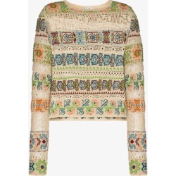 Etro Womens Neutrals Crochet Knit Patterned Top found on Bargain Bro UK from Browns Fashion