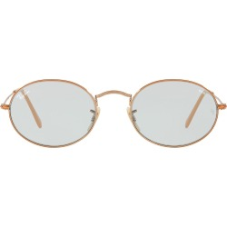 50ae35d77d28c Ray-Ban Oval Flat lenses sunglasses - Metallic found on MODAPINS from  FarFetch.com