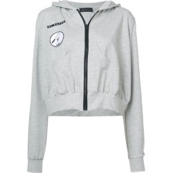 Barbara Bologna frill patch hoodie - Grey found on MODAPINS from FARFETCH.COM Australia for USD $166.36