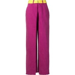 Aalto belted wide leg jeans - Pink found on MODAPINS from FarFetch.com- UK for USD $339.90