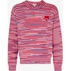 Kenzo Mens Red Tiger Patch Cotton Sweater found on Bargain Bro UK from Browns Fashion