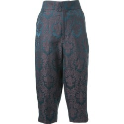 Aganovich baroque jacquard cropped trousers - Green found on MODAPINS from FARFETCH.COM Australia for USD $547.10