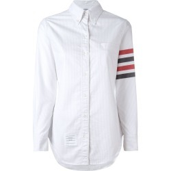 Thom Browne Long Sleeve Button Down With Woven 4-Bar Stripe In found on Bargain Bro UK from FarFetch.com- UK
