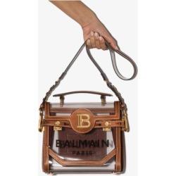 Balmain Womens Brown B-buzz 23 Pvc Leather Logo Shoulder Bag found on Bargain Bro UK from Browns Fashion