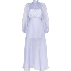 Beaufille Europa sheer maxi dress - Blue found on MODAPINS from FarFetch.com- UK for USD $1135.49