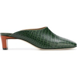 Atp Atelier Tasso crocodile embossed mules - Green found on MODAPINS from FarFetch.com- UK for USD $282.30