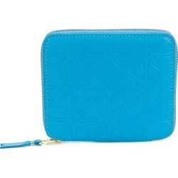 Comme Des Garçons Wallet embossed zipped wallet - Blue found on MODAPINS from FARFETCH.COM Australia for USD $169.97