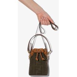 Fendi Womens Green Mon Tresor Mini Bucket Bag found on Bargain Bro UK from Browns Fashion
