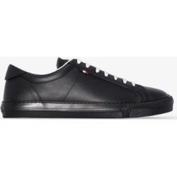 Moncler Mens Black New Monaco Leather Sneakers found on Bargain Bro UK from Browns Fashion