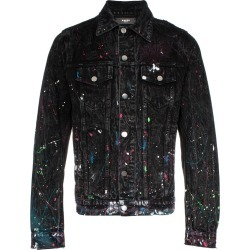 Amiri paint splatter print denim jacket - Black found on MODAPINS from FARFETCH.COM Australia for USD $726.82
