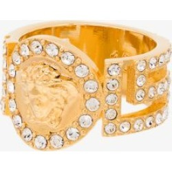 Versace Womens Gold Medusa Coin Crystal Ring found on Bargain Bro UK from Browns Fashion