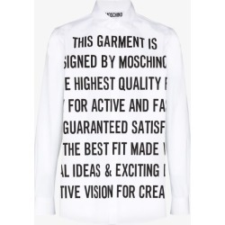 Moschino Mens White Mosch Writing Cas Sht Wht found on Bargain Bro UK from Browns Fashion