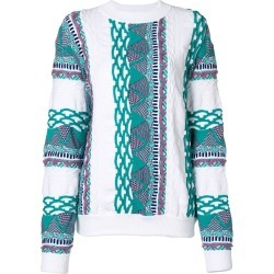 Aalto patterned round neck jumper - White found on MODAPINS from FarFetch.com- UK for USD $463.27