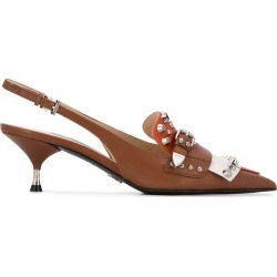 Prada studded slingback pumps - Brown found on Bargain Bro India from FARFETCH.COM Australia for $1089.87