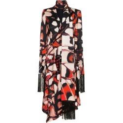 Alexander McQueen fringed long-sleeve midi dress - Black found on Bargain Bro UK from FarFetch.com- UK