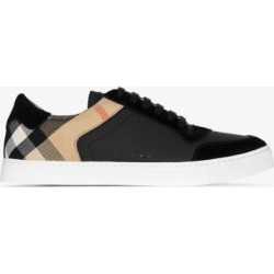 Burberry Mens Black House Check Low-top Sneakers found on Bargain Bro UK from Browns Fashion
