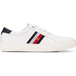 Tommy Hilfiger low-top stripe sneakers - White found on Bargain Bro UK from FarFetch.com- UK