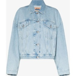 Acne Studios Womens Blue Acne Morris Cropped Jkt Dnm Ctn found on Bargain Bro UK from Browns Fashion