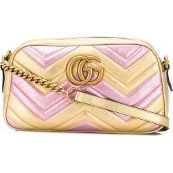 761f23091f0d Gucci laminated GG Marmont bag - Gold found on MODAPINS from FarFetch.com-  UK