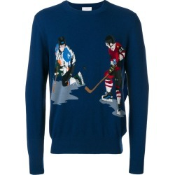 Ballantyne ice hockey intarsia knit sweater - Blue found on MODAPINS from FarFetch.com- UK for USD $738.07