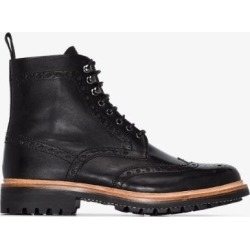Grenson Mens Black Fred Lace-up Leather Boots found on MODAPINS from Browns Fashion for USD $384.84