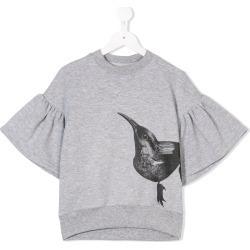 67c3771fccc Ioana Ciolacu Kids bird print T-shirt - Grey found on MODAPINS from FarFetch .