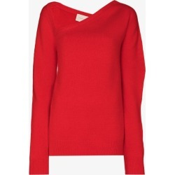 Christopher Kane Womens Red Side-slit Asymmetric Jumper found on MODAPINS from Browns Fashion for USD $645.74