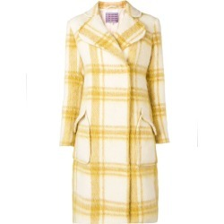 Alexa Chung belted double-breasted coat - Yellow found on MODAPINS from FARFETCH.COM Australia for USD $1200.67