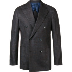 Barba check double breasted blazer - Brown found on MODAPINS from FarFetch.com- UK for USD $441.43