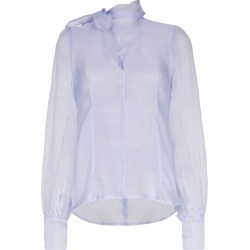 Beaufille sheer Rosseau blouse - Blue found on MODAPINS from FarFetch.com- UK for USD $600.00