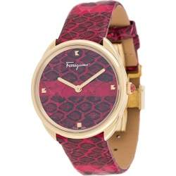 Salvatore Ferragamo Watches Cuir 34mm watch - Red found on Bargain Bro UK from FarFetch.com- UK