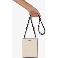 Jil Sander Womens Neutrals Bone White Tangle Leather Cross Body Bag found on Bargain Bro UK from Browns Fashion