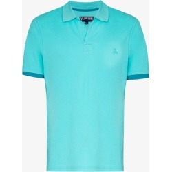 Vilebrequin Mens Blue Palatin Cotton Polo Shirt found on Bargain Bro UK from Browns Fashion