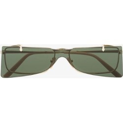 Gucci Eyewear Green and Gold Double Lens Sunglasses found on Bargain Bro UK from Browns Fashion