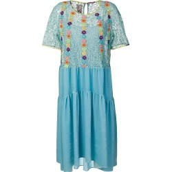 Antonio Marras floral-embroidered flared dress - Blue found on MODAPINS from FarFetch.com- UK for USD $1402.71