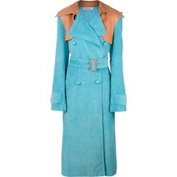Nina Ricci oversized trench coat - Blue found on MODAPINS from FarFetch.com- UK for USD $1041.99