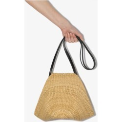 Inès Bressand Womens Neutrals Neutral Akamae 14 Straw Shoulder Bag found on MODAPINS from Browns Fashion for USD $394.13