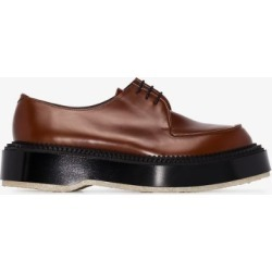 Adieu Paris Mens X Undercover Brown Leather Chunky Derbies found on MODAPINS from Browns Fashion for USD $651.28